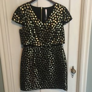 Black and Gold Kensie Cocktail Dress